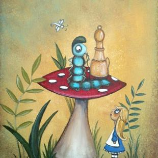 Art: Alice and the Caterpillar by Artist Charlene Murray Zatloukal