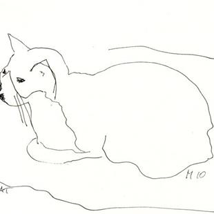 Art: WALK-BY DRAWINGS, nameless Cat by Artist Gabriele Maurus