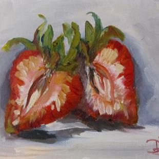 Art: Strawberry Half by Artist Delilah Smith