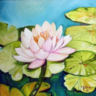 Art: LOTUS & PADDIES by Artist Marcia Baldwin
