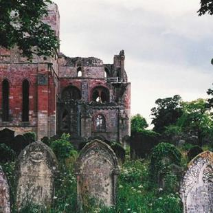 Art: Where The Dead Went - Lanercost Priory Cemetery by Artist Shawn Marie Hardy
