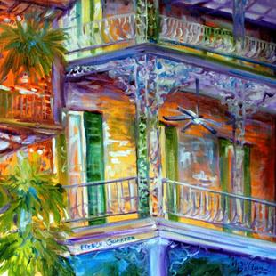 Art: FRENCH QUARTER CITYSCAPE by Artist Marcia Baldwin