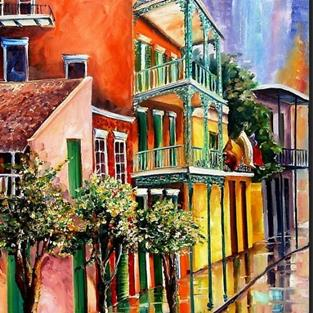 Art: Reflections on St. Phillip Street - SOLD by Artist Diane Millsap