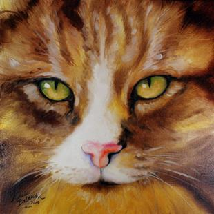 Art: AMBER EYES SWEET KITTY by Artist Marcia Baldwin