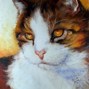 Art: CAT EYES GOLDEN by Artist Marcia Baldwin