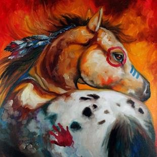 Art: APPALOOSA INDIAN WAR PONY by Artist Marcia Baldwin