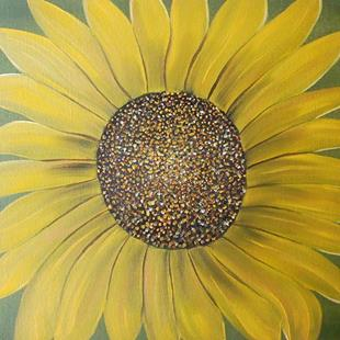 Art: EARLY DAWN SUNFLOWER by Artist Christa Jule Art