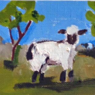 Art: Sheep Aceo by Artist Delilah Smith