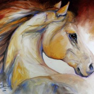 Art: MUSTANG NAMED WIND by Artist Marcia Baldwin