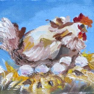 Art: Nesting  aceo by Artist Delilah Smith