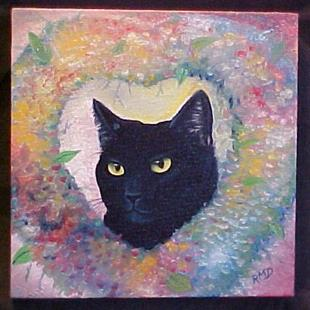 Art: Heart Cat by Artist Rosemary Margaret Daunis
