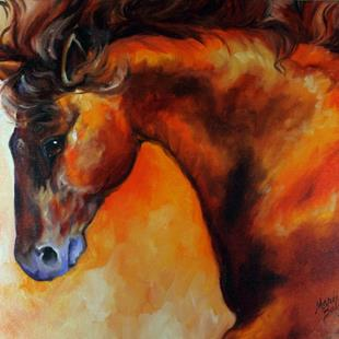 Art: BAY STALLION DUSK by Artist Marcia Baldwin