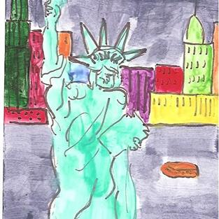 Art: Liberty in New York by Artist Nancy Denommee