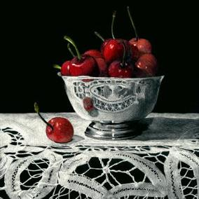 Art: Bowl of Cherries by Artist Sandra Willard