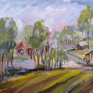 Art: Farm Fields by Artist Delilah Smith