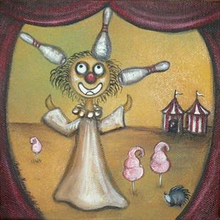 Art: Creeper Clown by Artist Charlene Murray Zatloukal