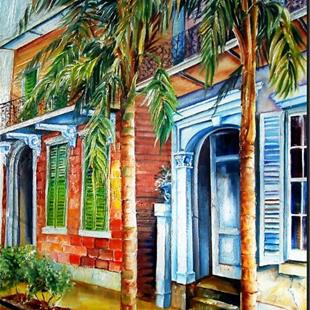Art: Palms on Esplanade - SOLD by Artist Diane Millsap