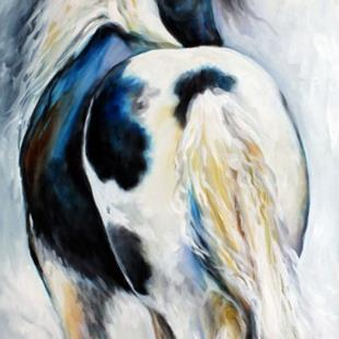 Art: GYPSY VANNER MODERN ABSTRACT by Artist Marcia Baldwin