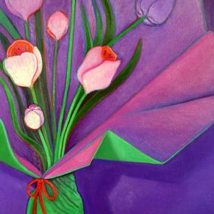 Art: Fresh Flowers by Artist Elizabeth Fiedel