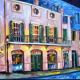 Art: Brennan's in New Orleans - SOLD by Artist Diane Millsap