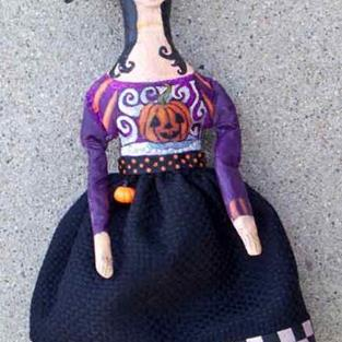 Art: Bizzel the Girl Witch by Artist Catherine Darling Hostetter