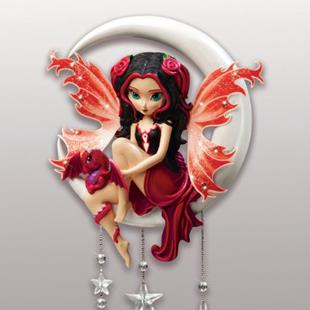 Art: Ruby - Sculpture for my Visions of Twilight - Bradford Exchange by Artist Jasmine Ann Becket-Griffith