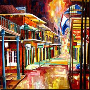 Art: Bourbon Street Lights - SOLD by Artist Diane Millsap