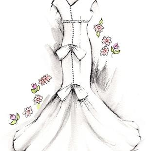 Art: Bridal Gown - Back by Artist Patricia  Lee Christensen