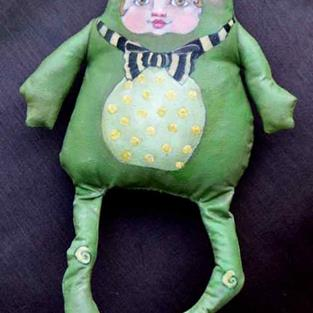Art: Frog Child by Artist Catherine Darling Hostetter