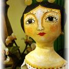 Art: OOAK QUEEN ANNE STYLE DOLL by Artist Cyra R. Cancel