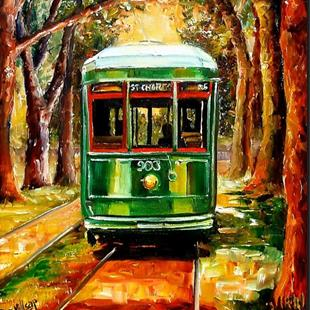 Art: The St. Charles Streetcar Line - SOLD by Artist Diane Millsap