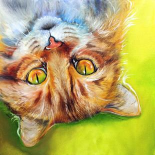 Art: WHAT'S UP KITTY by Artist Marcia Baldwin