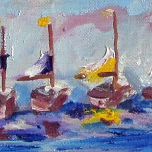 Art: Sail Boat No.2 Aceo by Artist Delilah Smith