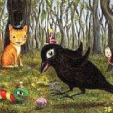Art: Hoppy Birthday Mr. Crow by Artist Vicky Knowles