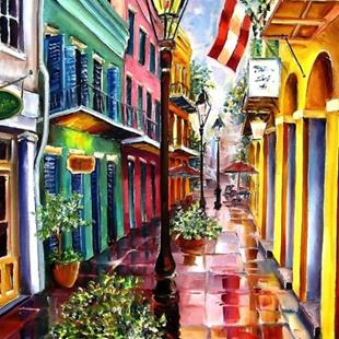 Art: Reflections on Exchange Alley by Artist Diane Millsap