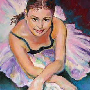 Art: Young Ballerina by Artist Luda Angel
