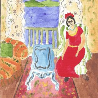 Art: Forty Fridas # 23 - After Matisse SOLD by Artist Nancy Denommee