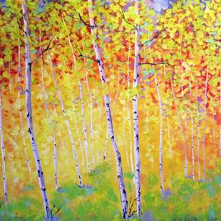 Art: Autumn Aspens by Artist Diane Funderburg Deam