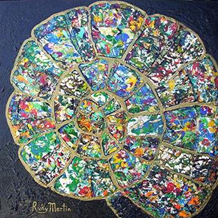 Art: Ammonite Collage - available in my ebay store by Artist Ulrike 'Ricky' Martin