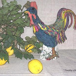 Art: LEMON CHICKEN by Artist RUTH J JAMIESON