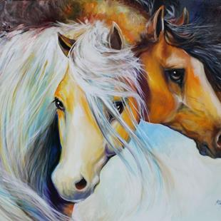 Art: STAND BY ME EQUINE by Artist Marcia Baldwin