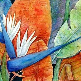 Art: Bird of Paradise - sold by Artist Ulrike 'Ricky' Martin
