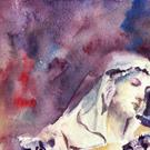 Art: Study of Madonna, Lincoln Cathedral by Artist John Wright