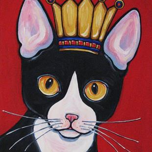 Art: Kitty Queen by Artist Melinda Dalke