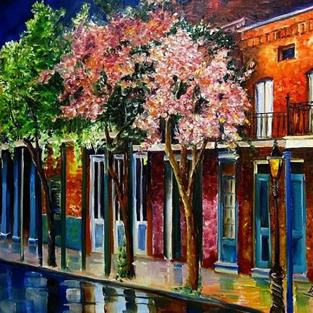 Art: The Glow on Chartres Street - SOLD by Artist Diane Millsap