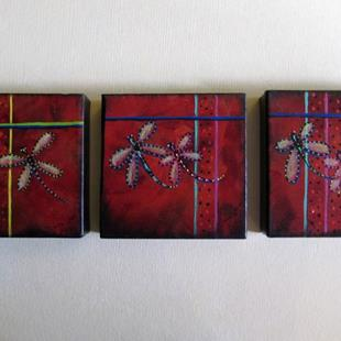 Art: Dragonfly Paintings by Artist Diane Funderburg Deam