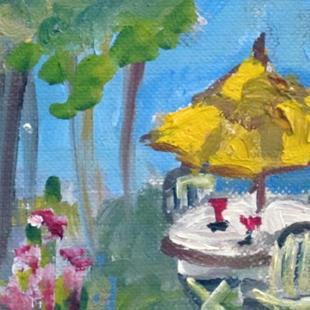 Art: Summer Picnic aceo-sold by Artist Delilah Smith