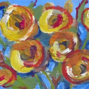 Art: Yellow Rose Aceo-sold by Artist Delilah Smith