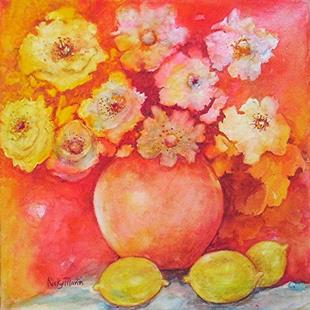 Art: Pinks and Lemons  by Artist Ulrike 'Ricky' Martin