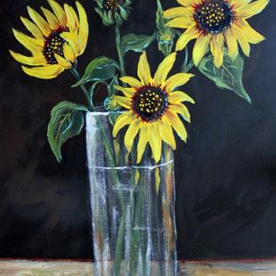Art: Sunflowers for Manet by Artist Diane Funderburg Deam